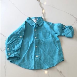 Janie and Jack Linen Button Down Shirt